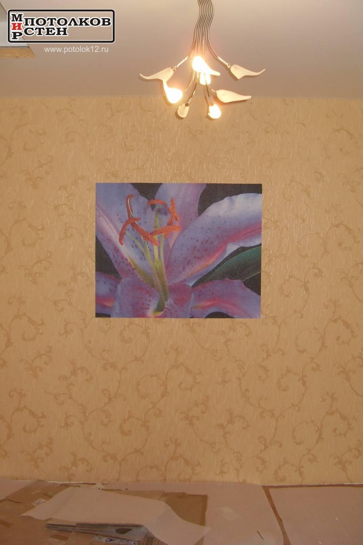 Фреска и натяжной потолок