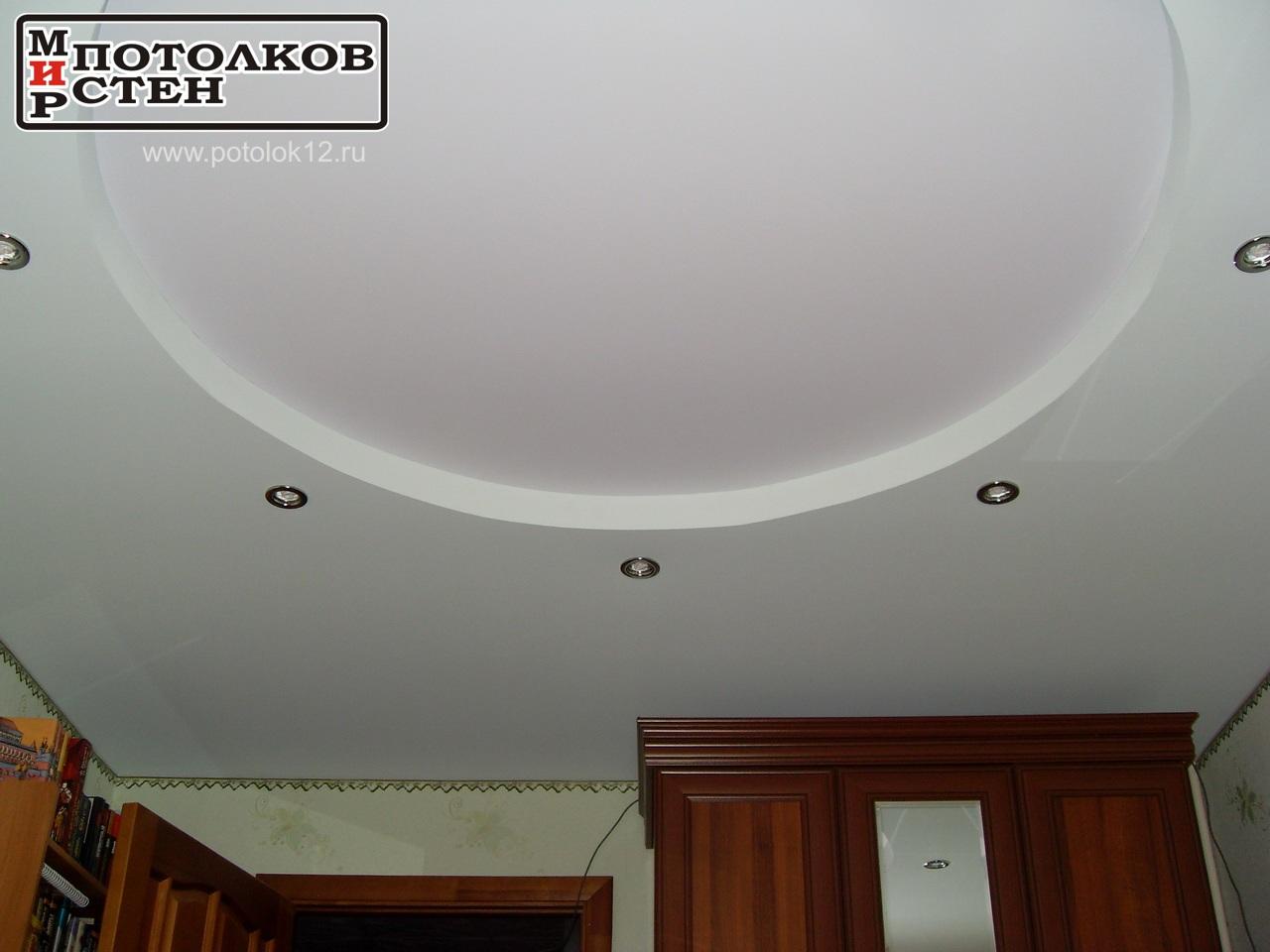 Потолки натяжные Йошкар-Ола, круг светло зеленый