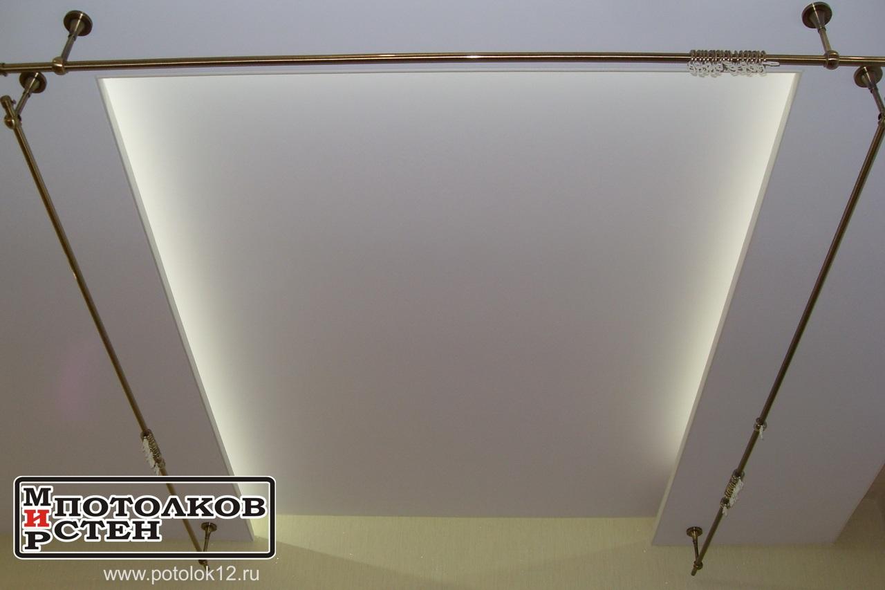 Белая светодиодная подсветка потолка
